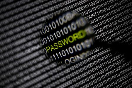 File picture illustration of the word 'password' pictured through a magnifying glass on a computer screen taken in Berlin