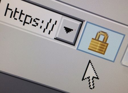File photo of a lock icon, signifying an encrypted Internet connection, on an Internet Explorer browser in Paris