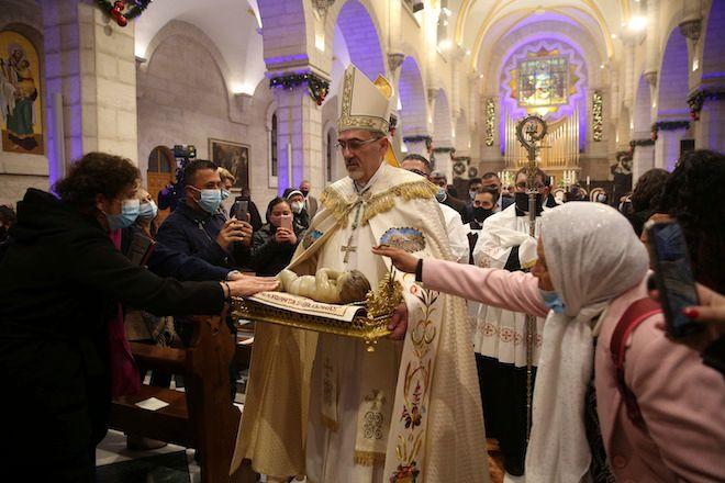 Χριστουγεννιάτικη λειτουργία στην Βηθλεέμ, 25 Δεκεμβρίου 2020.