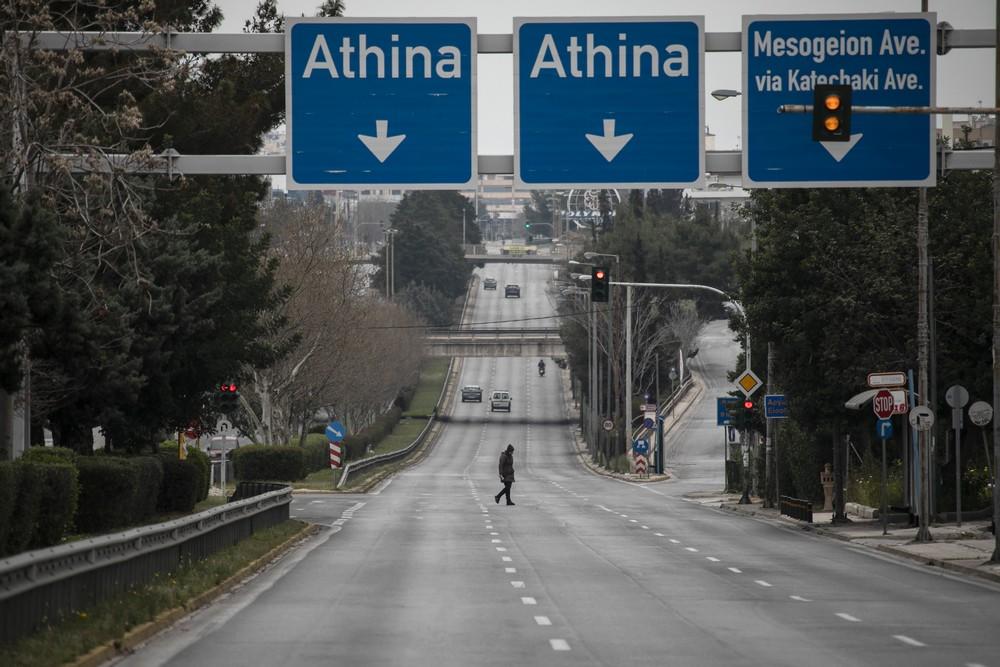 Στιγμιότυπο από το πρώτο λοκντάουν στην Αθήνα